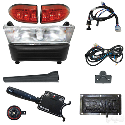 Build Your Own Light Bar Kit, Club Car Precedent 08.5 w/12V (Deluxe, Pedal Mount)