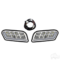 RHOX LED Headlights w/RGBW Accent Lights and OE Retrofit Harness, Club Car Tempo, 12-48V