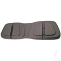Seat Back Shell, 1 Piece Black Plastic, Club Car DS