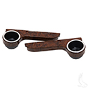 Seat Kit Arm Rest Set with Cup Holder, ABS Wood grain
