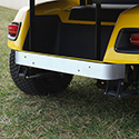Rear Bumper Cover, Stainless Steel, E-Z-Go TXT 01+