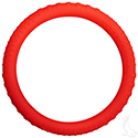 Steering Wheel Cover, Rubber Universal, Red
