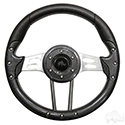 "Steering Wheel, Aviator 4 Carbon Fiber Grip/Brushed Aluminum Spokes 13"" Diameter"