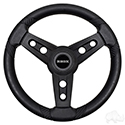Lugana Steering Wheel, Black, Club Car DS Hub 84+