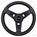 Giazza Steering Wheel, Black, E-Z-Go Hub