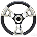 Fontana Steering Wheel, Chrome, Club Car E-Z-Go Hub