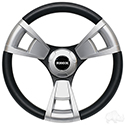 Fontana Steering Wheel, Brushed, Club Car E-Z-Go Hub
