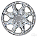 "Wheel Cover, 8"" Ninja Real Chrome"
