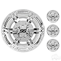 "Wheel Cover, SET OF 4, 8"" Daytona Chrome"