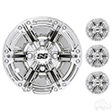 "Wheel Cover, SET OF 4, 10"" Daytona Chrome"