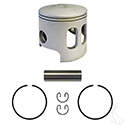 Piston and Ring Assembly, +.25mm, Yamaha G1 Gas