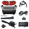 Build Your Own LED Light Bar Kit, Club Car Precedent, Electric 08.5+, 12-48v, (Deluxe, Pedal Mount)