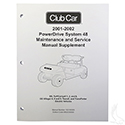 Maintenance & Service Supplement, Club Car PowerDrive 48V 01-02