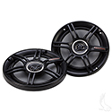 "Crunch 6.5"" 200W Max Coaxial Speakers, SET OF 2"
