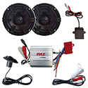 "Complete MP3 w/ 100 Watt Amp and Polk 5.25"" Black Speakers"