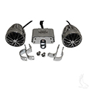 MP3 Kit, Dual Weather Proof Strut or Dash Mount Speakers and Amplifier