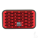 QUB Two Dual Driver Wireless Bluetooth Speaker, Red
