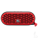QUB Three Dual Driver Wireless Bluetooth Speaker, Red