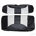 RHOX Front Seat Cover Set, Rally Black/White, E-Z-Go RXV 08+, TXT 96-13