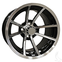 8 Spoke, Machined w/ Black w/ Center Cap, 14x7 ET-38