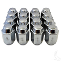 "Lug Nut, BOX OF 16, Chrome Closed End Standard 1/2""-20, OD 3/4"""