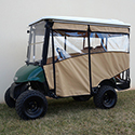 "Odyssey Enclosure, 88"" RHOX Top, Beige, E-Z-Go RXV 08+ with Rear Seat"