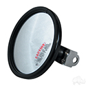 Mirror, Convex Side Mount Rear View, Black