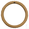"Steering Wheel Cover, Beige Leather, E-Z-Go 01+, Club Car 11+, Star (13.25""-13.6"")"