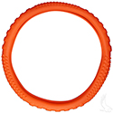 Steering Wheel Cover, Rubber Universal, Orange