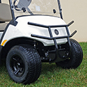 Brush Guard, Black Powder Coat, Steel Front, Yamaha Drive2
