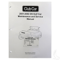 Maintenance & Service Manual, Club Car DS 01-02