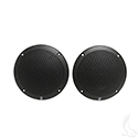 "5"" Round Poly-Planar 80 Watt (per pair) Coaxial Water Resistant Speakers Only- Set of 2"