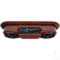"Assembled, Woodgrain Console w/ Dual AM/FM Receiver, 5.25"" Speakers & Antenna"