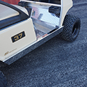 Rocker Panels, Stainless Steel, Club Car