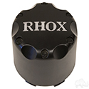 Center Cap, Matte Black with Silver RHOX